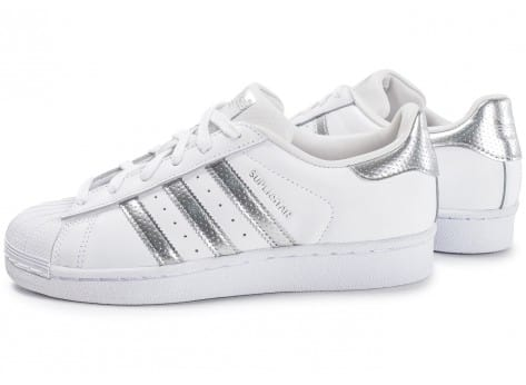 adidas superstar blanc argent pas cher Avis en ligne