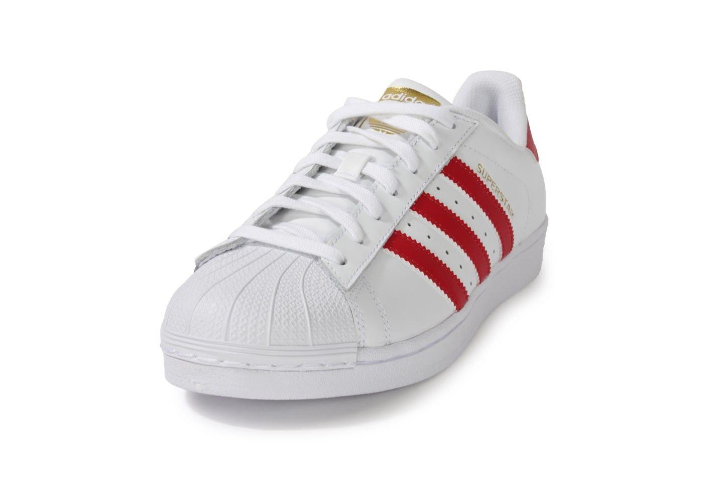 official photos c4017 ef689 Acheter adidas superstar homme rouge et blanc original pas cher ici en  ligne avec le prix le plus bas possible. Remises spéciales sur les  nouvelles offres ...