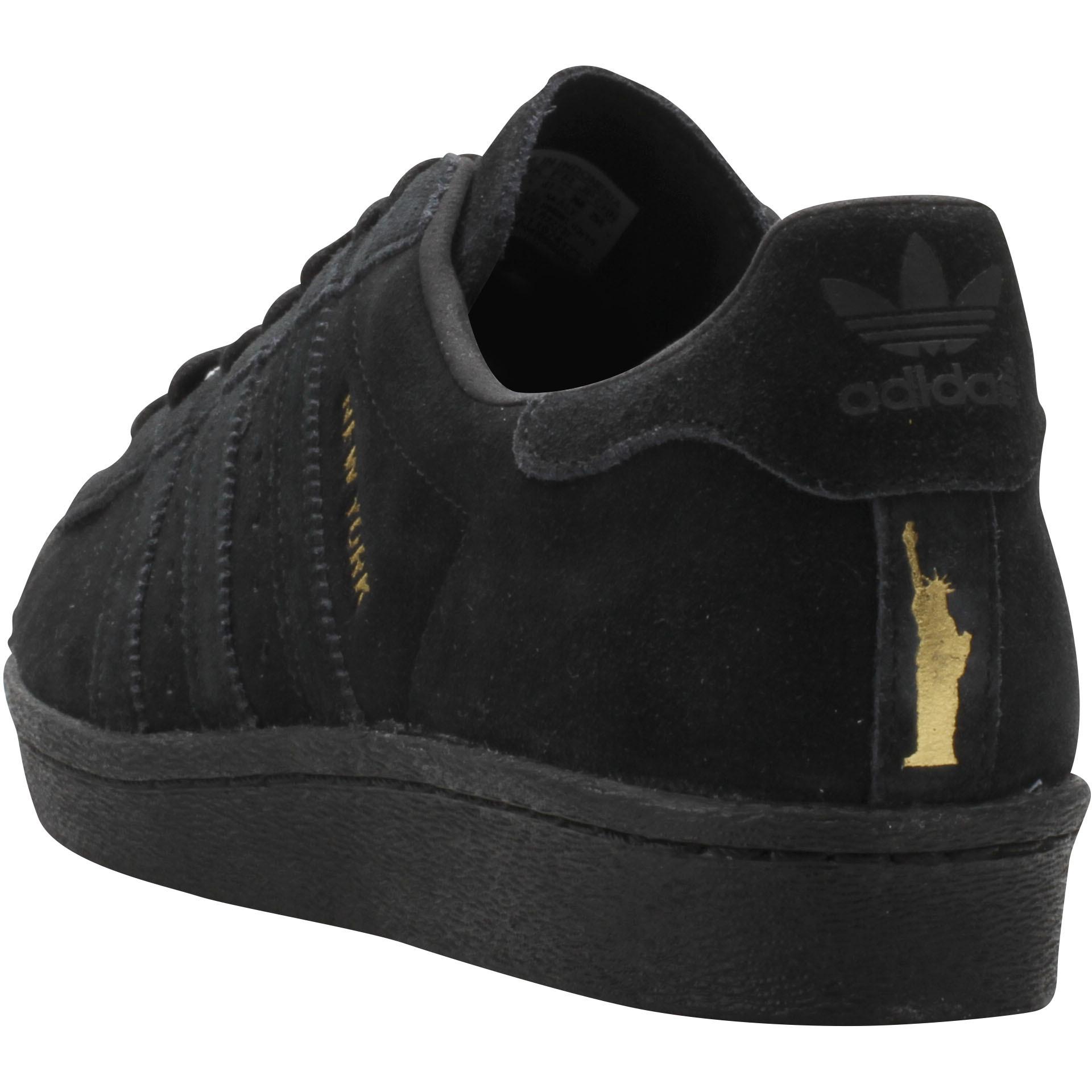 Faible Prix Adidas Superstar 80s City Series Nouveau York Noir Or b32737 Chaussures
