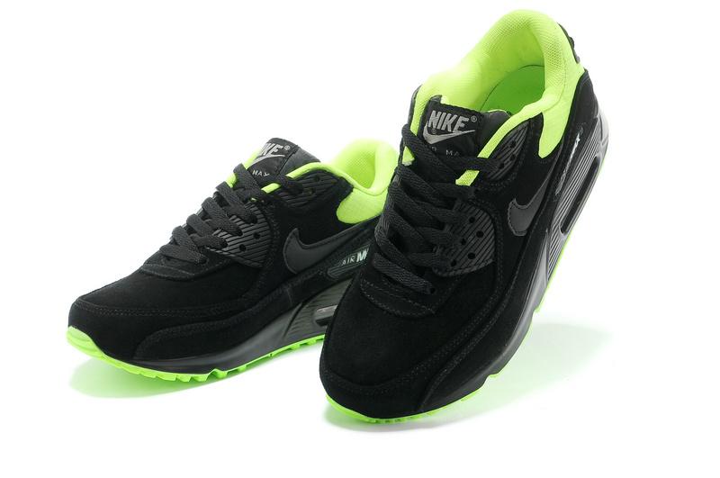 nike air max noir et vert fluo