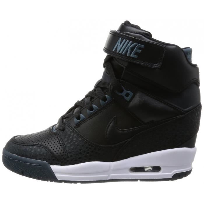 Nike Dunk Sky Hi Baskets compensées Effet serpent noir