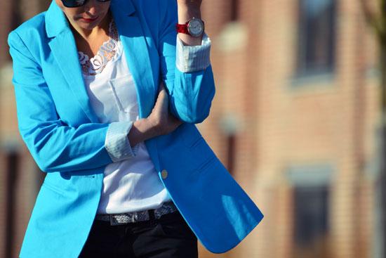 Bleu Avis Femme Turquoise En Ligne Blazer 6gyv7bfY